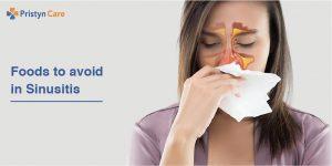 Foods to avoid with sinusitis