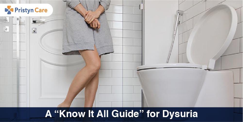 women suffering from dysuria