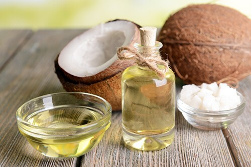 coconut oil in piles