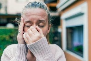 patient suffering from sinus