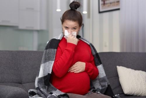 sick pregnant woman