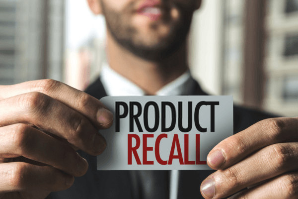 Recall of a product