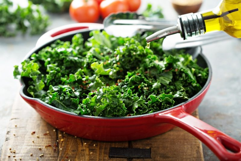 Kale in a pan