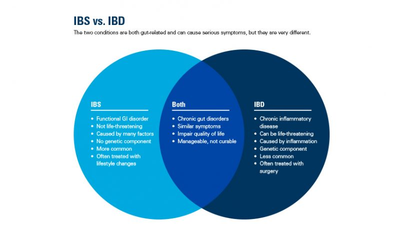 IBS and IBD differences and similarities