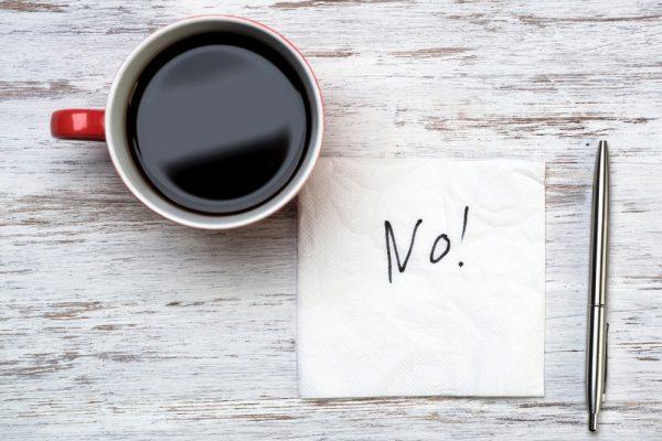 avoid caffeine to destress