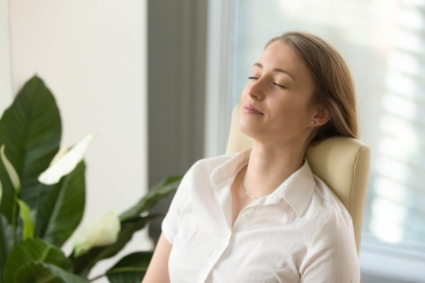 inhale and exhale to relax