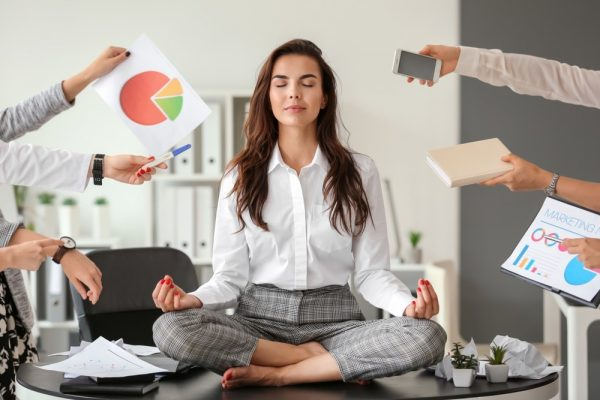 meditate in office