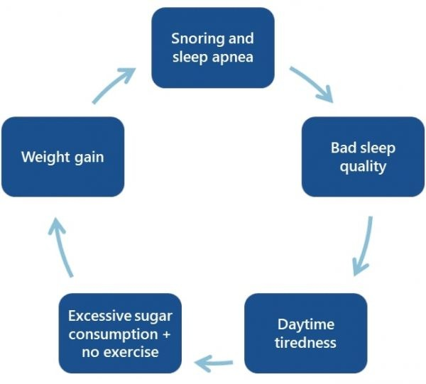 obesity-snoring cycle