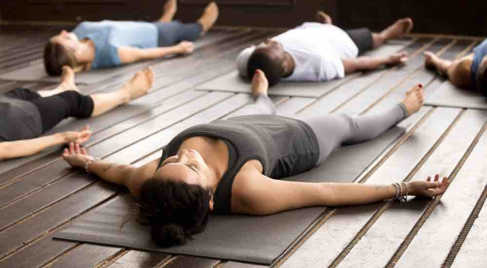 Savasana yoga pose to prevent ovarian cyst