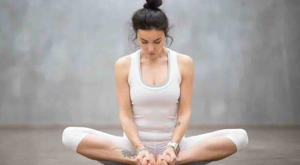 Butterfly  yoga pose to prevent ovarian cyst