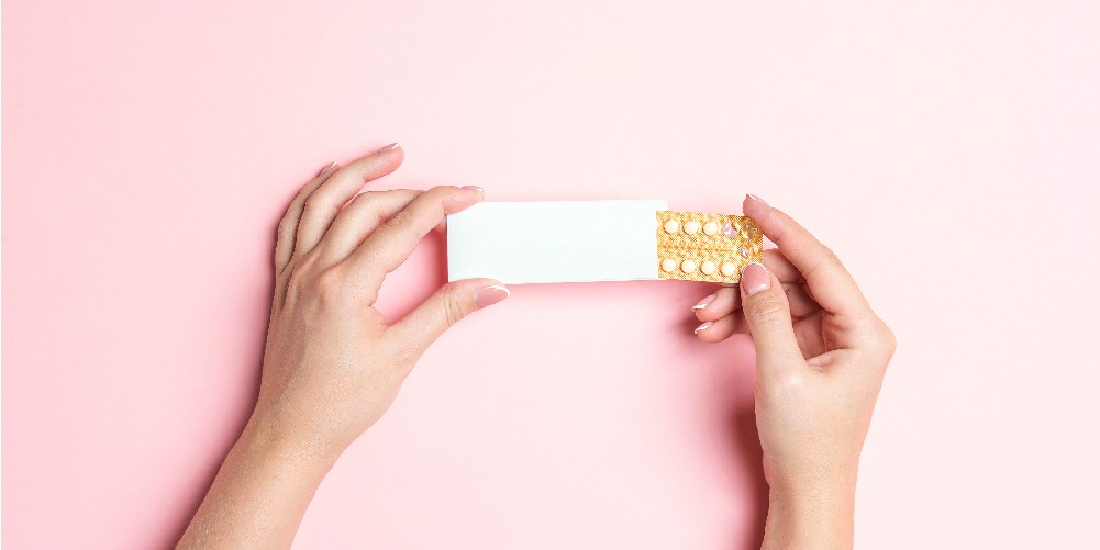 emergency Contraceptive pills in a woman's hand