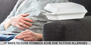 Cover image for stomach ache due to allergies
