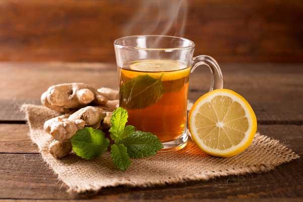 Lemon and lemon tea on a table