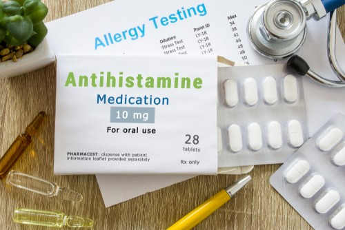 antibiotics kept on a table