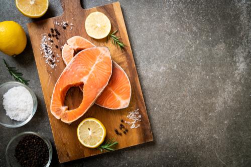 Salmon rich in Omega-3