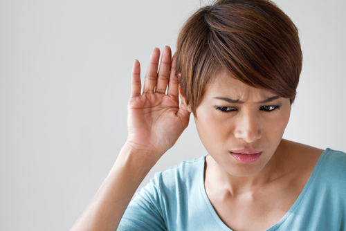 woman with hearing disability