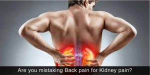 patient having pain due to kidney stones