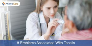 Cover image for problems in the tonsils