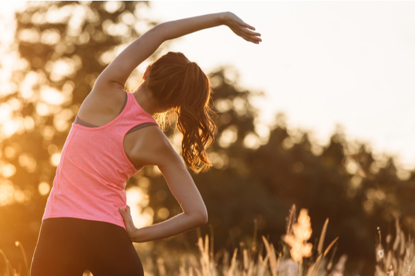 stretching exercise to help in period