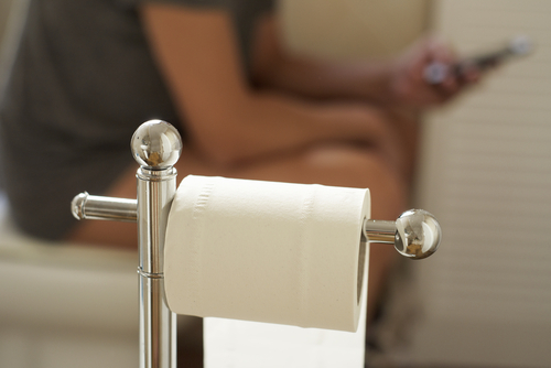 man on toilet seat