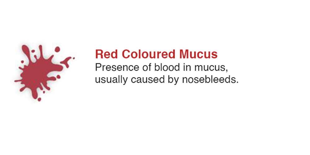Red Coloured Mucus
