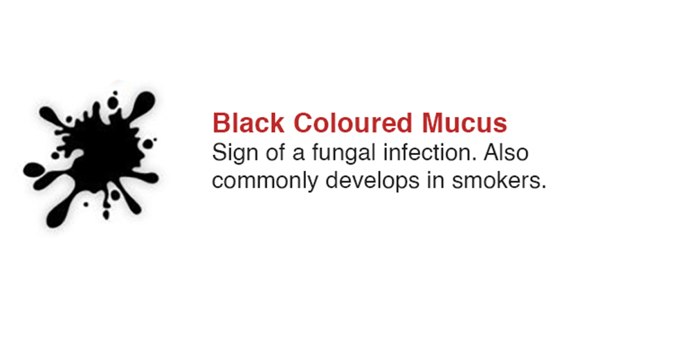 Black Coloured Mucus