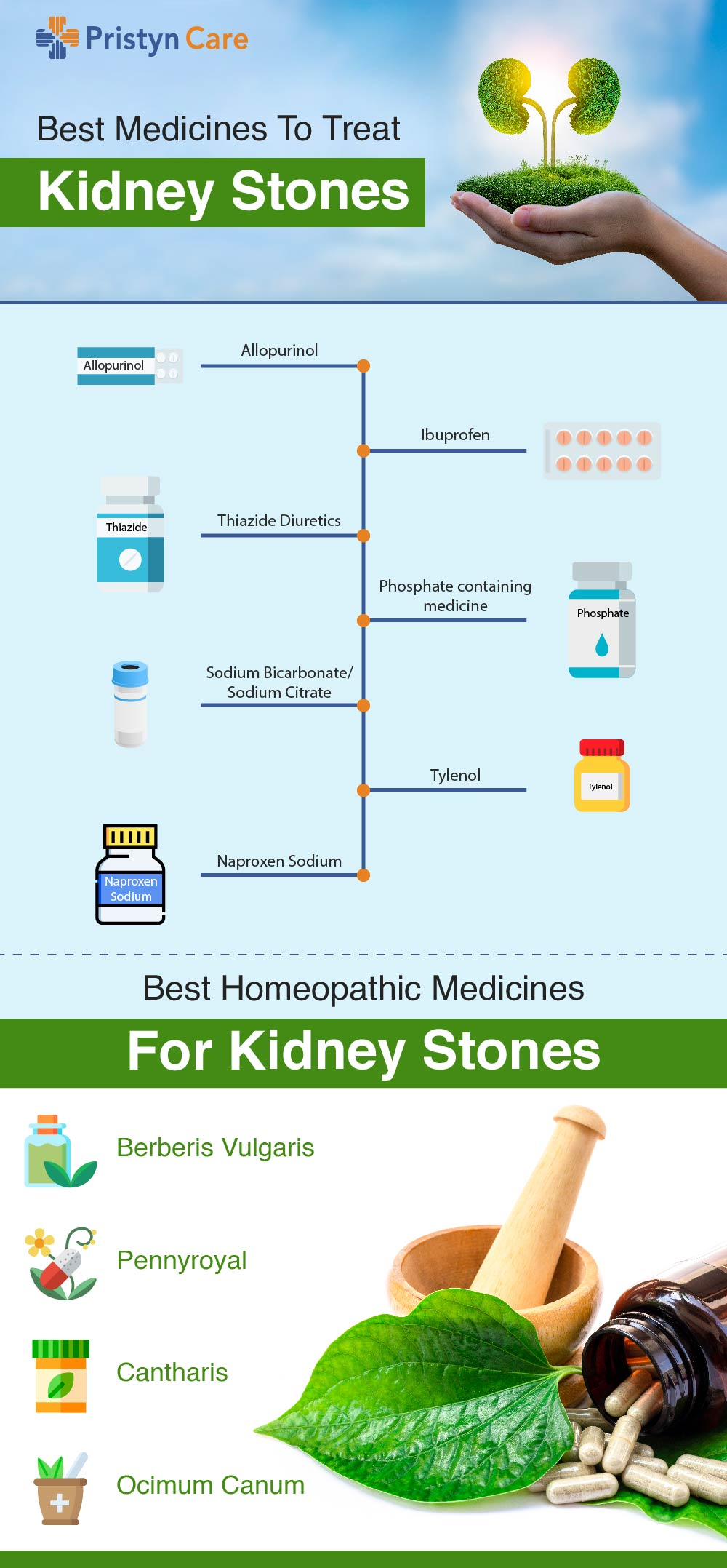 Top Medicines To Treat Kidney Stones infographic