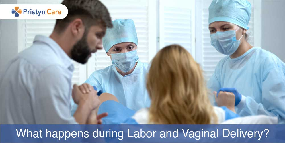 pregnant woman in labor