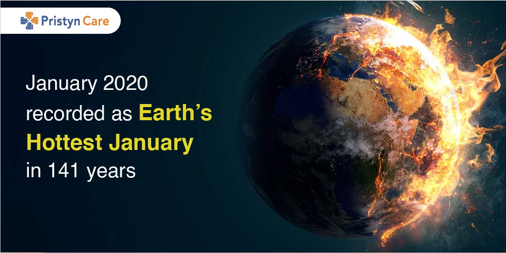 January 2020 recorded as Earth's Hottest January in 141 years