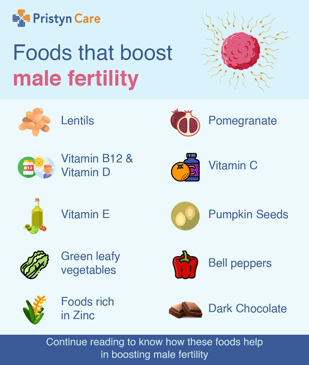 Foods that boost male fertility-infographic