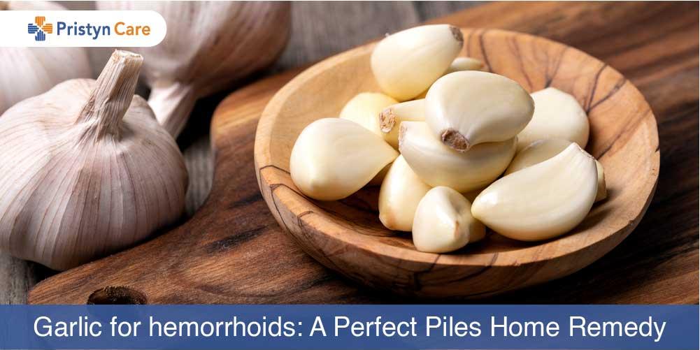 Garlic for hemorrhoids