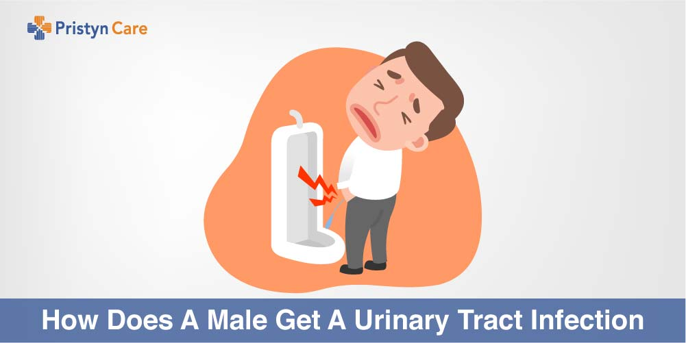 How does a male get UTI