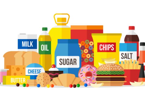 high sugar and salt foods and drinks