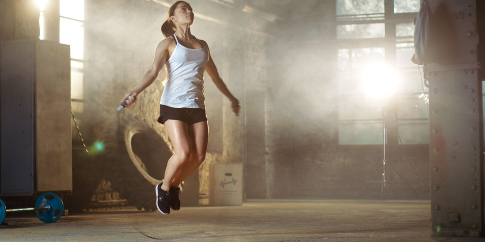 female working out in the morning for weight loss