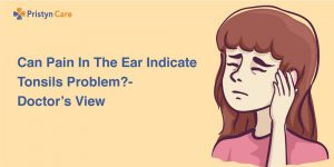 Cover image for ear pain due to tonsils