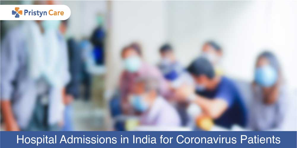 Hospital admission in India for coronavirus Patient