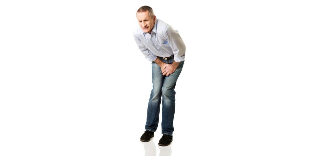 man facing pain in penis