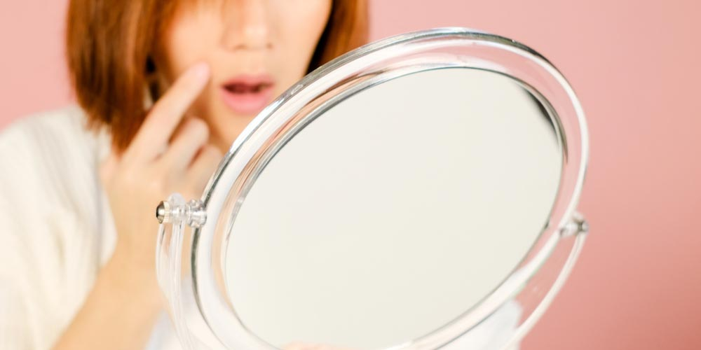 female having premature wrinkles