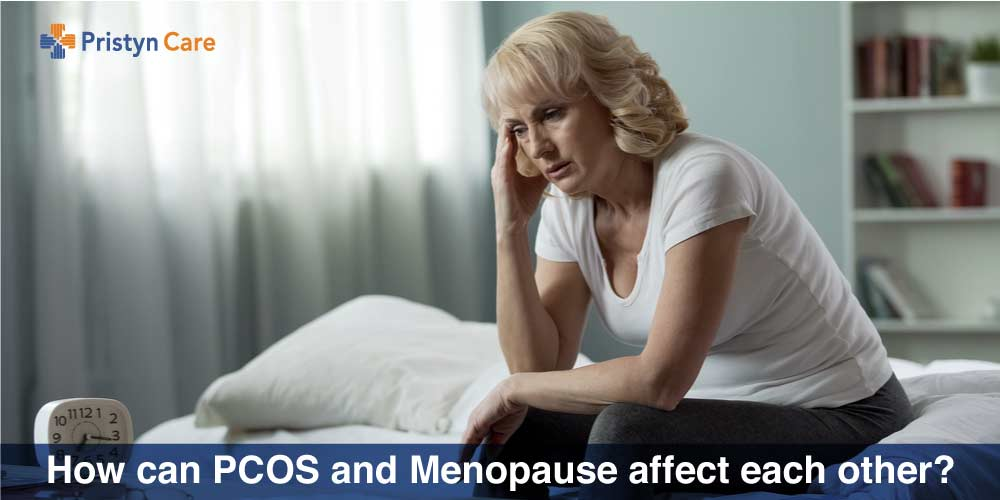 stressed female doing through menopause and PCOS
