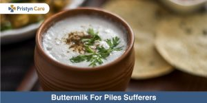 Buttermilk for piles
