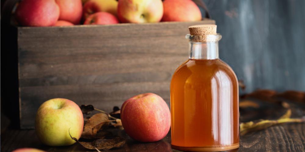 Apple cider vinegar in a vial