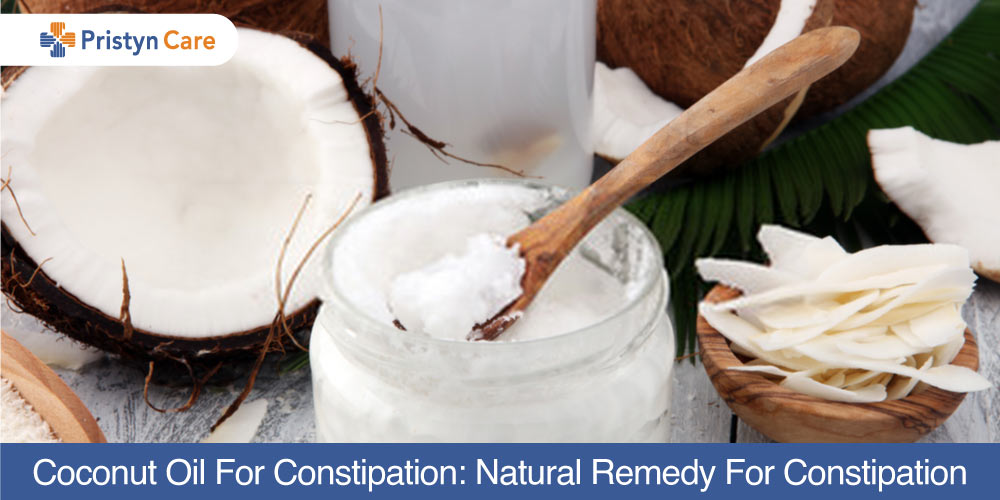 Coconut oil for constipation