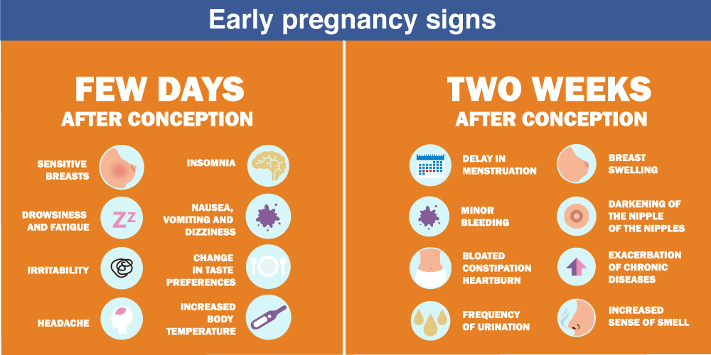 early pregnancy signs before missing periods