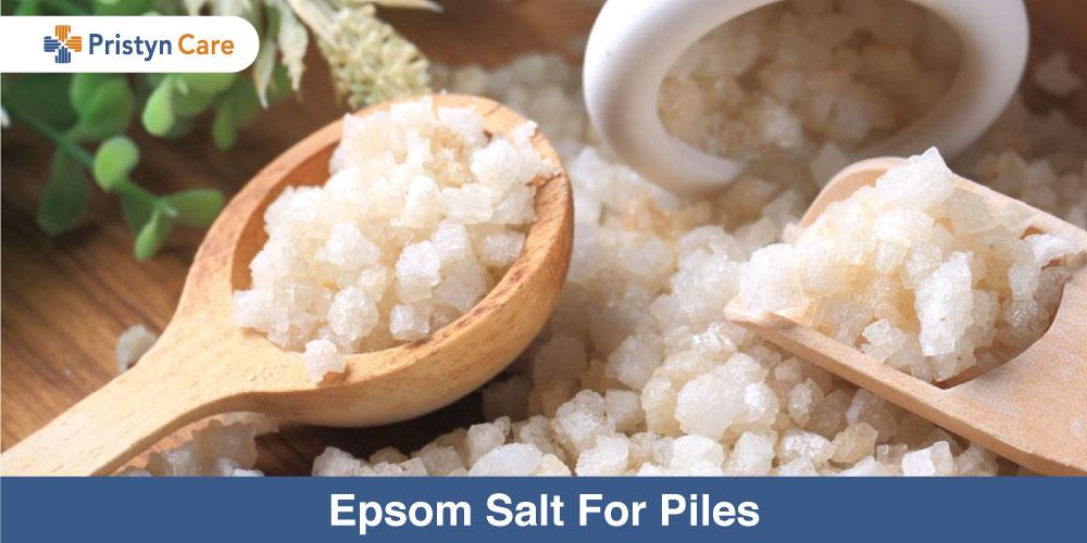 Epsom salt for piles