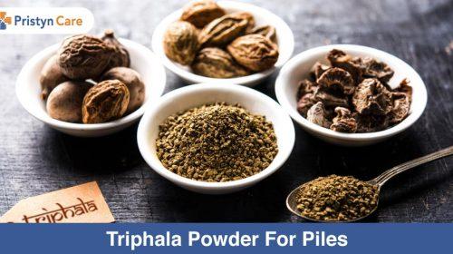 Triphala powder for piles