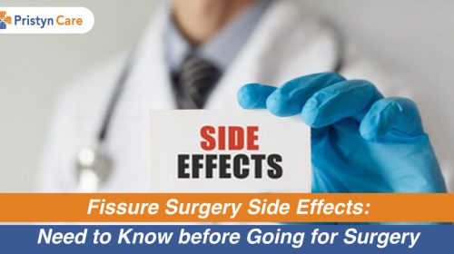 Fissure surgery side-effects