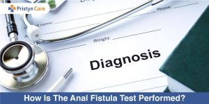How is anal fistula test performed