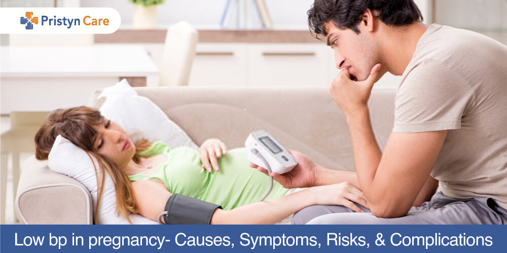 female having Low blood pressure in pregnancy