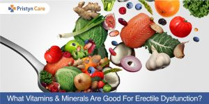 Vitamins and minerals for erectile dysfunction