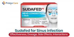 Sudafed for Sinus Infection- Effectiveness, Dosage, Side effects and Interactions